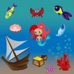 Постер, плакат: Set mermaid 2