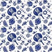 Japanese summer seamless pattern