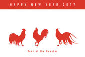 Year of the rooster New year card
