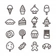 A set of sweets icon...