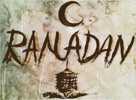 Ramadan old poster ,manuscript for vintage design.