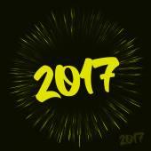 Novoroční přání s efektem aplikace fireworks