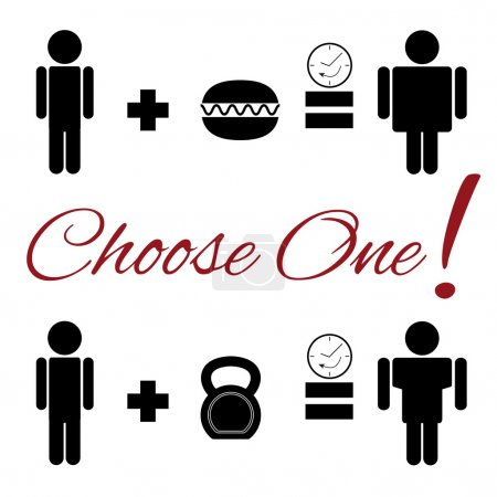 Set of lifestyle choice pictograms