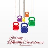 Cartolina di Natale con kettlebell