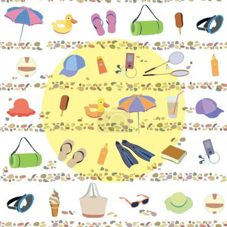 Summer, beach, sea, heat, holiday, pattern
