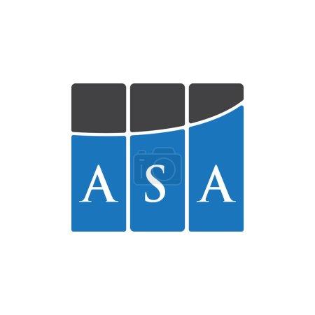 Illustration pour ASA lettre logo design sur fond noir.ASA initiales créatives lettre logo concept.ASA lettre design. - image libre de droit