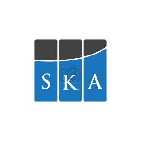 Illustration pour SKA letter logo design on black background.SKA creative initials letter logo concept.SKA letter design. - image libre de droit