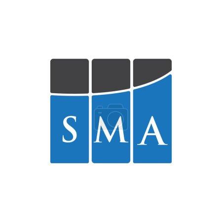Illustration pour SMA letter logo design on black background.SMA creative initials letter logo concept.SMA letter design. - image libre de droit