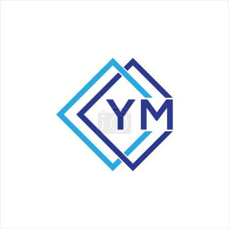 Illustration pour YM letter logo design on black background.YM creative initials letter logo concept.YM letter design. - image libre de droit