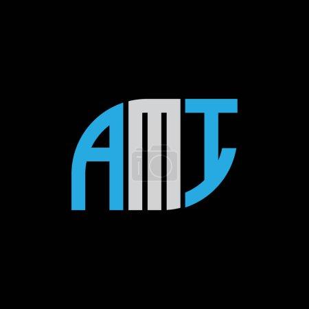 Illustration pour AMI letter logo design on black background.AMI creative initials letter logo concept.AMI letter design. - image libre de droit
