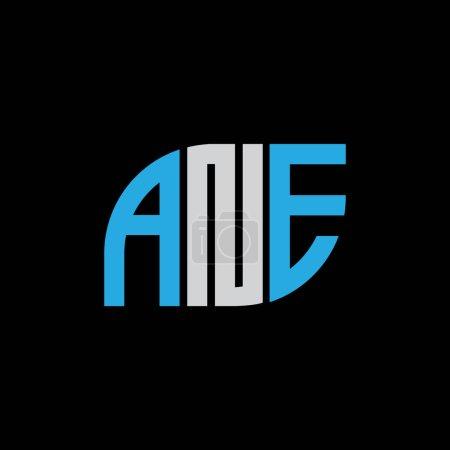 Illustration pour ANE letter logo design on black background.ANE creative initials letter logo concept.ANE letter design. - image libre de droit