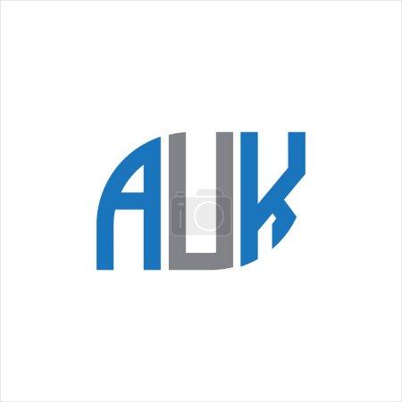 Illustration pour AUK letter logo design on white background.AUK creative initials letter logo concept.AUK letter design. - image libre de droit
