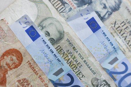 Dinero griego, dracma con euro