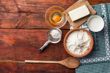 Photo for Means for making bread, view top - Royalty Free Image