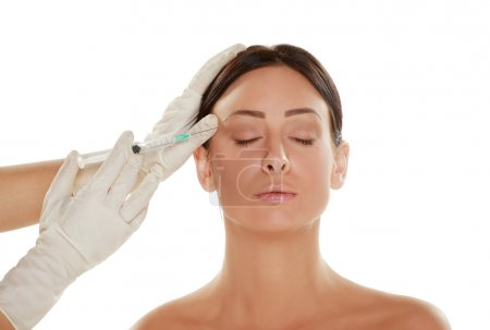woman treatment with botox