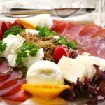 Постер, плакат: appetizer with ham and chees