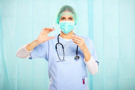 Nurse preparing an injection of botox