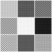Set seamless black - white texture