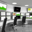 Security Operations Center - SOC containing monito...