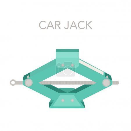 Vector illustration with Car Jack.