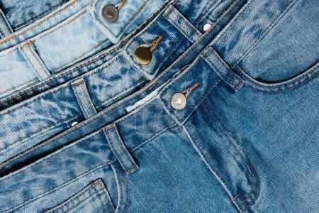 Photo pour Vue rapprochée du jean bleu classique - image libre de droit