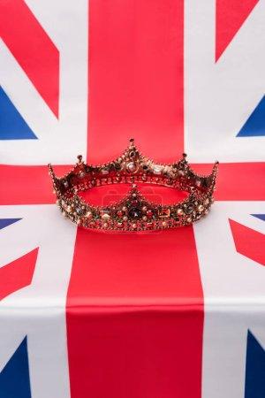 luxury royal crown on british flag