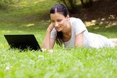 girl working freelance