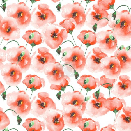 Pattern with a poppies