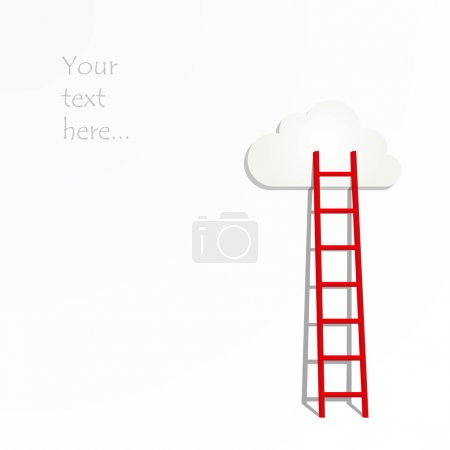 Ladders to the clouds illustration