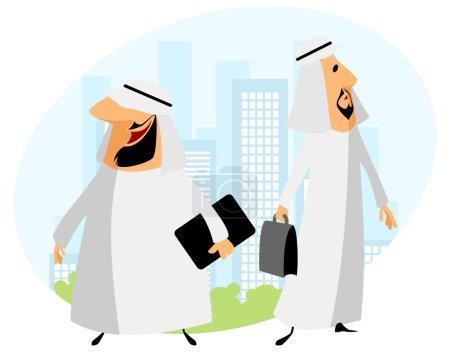 Two arabic businessmen
