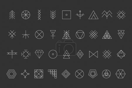 Set of geometric hipster shapes8