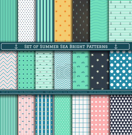 Set of Summer Pattern