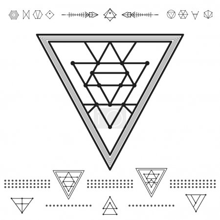 Set of geometric hipster shapes 9zn72211