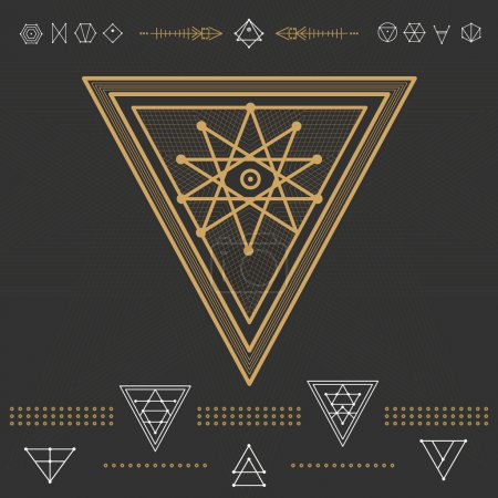 Set of geometric hipster shapes 9zn72211d3black