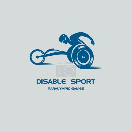 The disabled person athlete in a wheelchair. Paralympic games. M