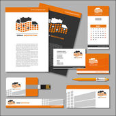 Set of templates Business cards letterheads flash banner po