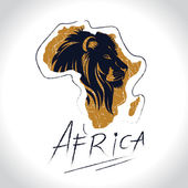 Africa and Safari logo with the lion 2