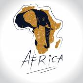 Africa and Safari with the elephant logo