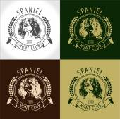 Set Spaniel logos labels and badges