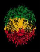 rasta lion vector 3