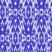 seamless pattern Tribal Art  Ikat Ogee in traditional classic blue and white colors