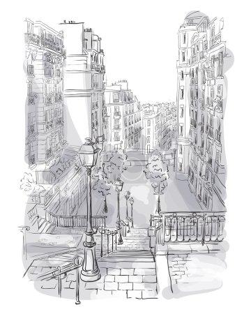 view of Montmartre in Paris
