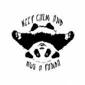 vector hug panda