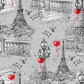 Paris Vintage seamless pattern  3