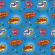 Seamless pattern background with comic book speech...