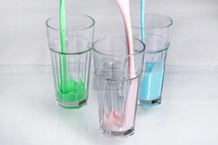 Three colors milk shakes