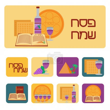 Passover icon set