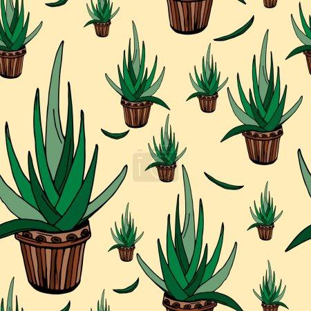 Aloe seamless pattern
