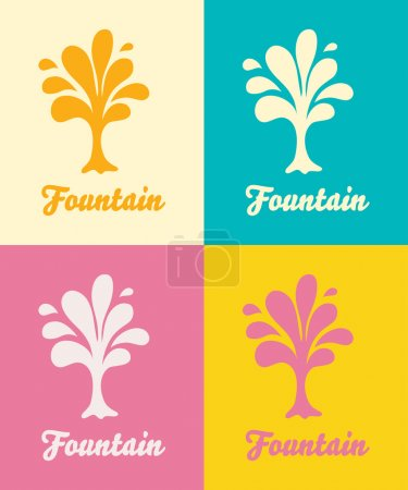colorful fountains logos