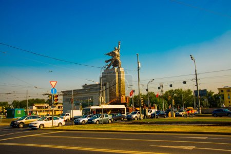 Monument Worker and Collective Farm woman in Moscow. Russia.